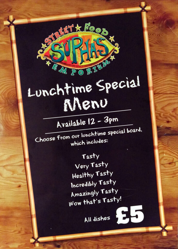 Lunch time specials